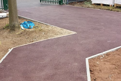Glenco Civil Engineers, London, Coloured Tarmac